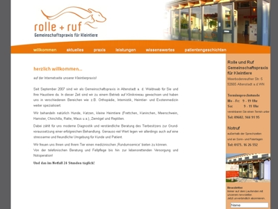 willedesign-weblayout altenstadt tierarzt